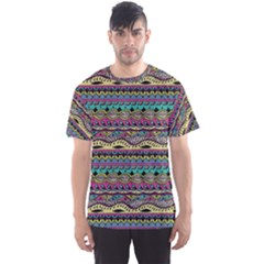 Aztec Pattern Cool Colors Men s Sports Mesh Tee