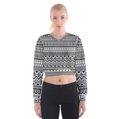 Aztec Pattern Design Cropped Sweatshirt