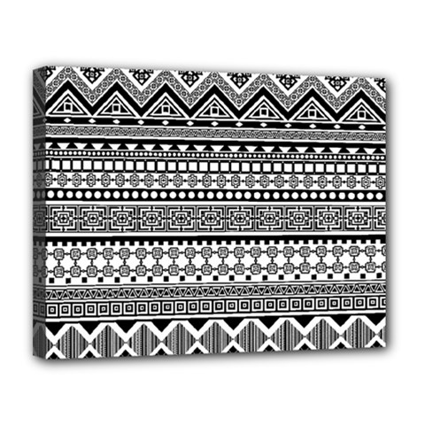 Aztec Pattern Design(1) Canvas 14  X 11