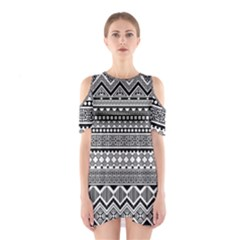 Aztec Pattern Design(1) Shoulder Cutout One Piece