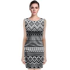 Aztec Pattern Design(1) Classic Sleeveless Midi Dress