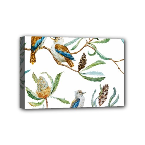 Australian Kookaburra Bird Pattern Mini Canvas 6  X 4