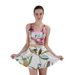 Australian Kookaburra Bird Pattern Mini Skirt