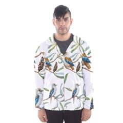Australian Kookaburra Bird Pattern Hooded Wind Breaker (men)