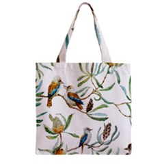 Australian Kookaburra Bird Pattern Zipper Grocery Tote Bag