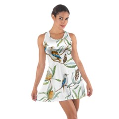 Australian Kookaburra Bird Pattern Cotton Racerback Dress