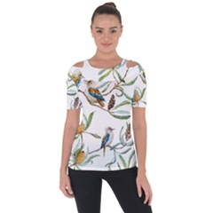Australian Kookaburra Bird Pattern Short Sleeve Top