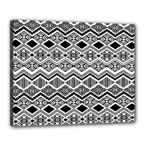 Aztec Design  Pattern Canvas 20  X 16