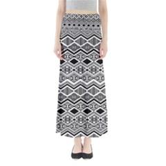 Aztec Design  Pattern Full Length Maxi Skirt