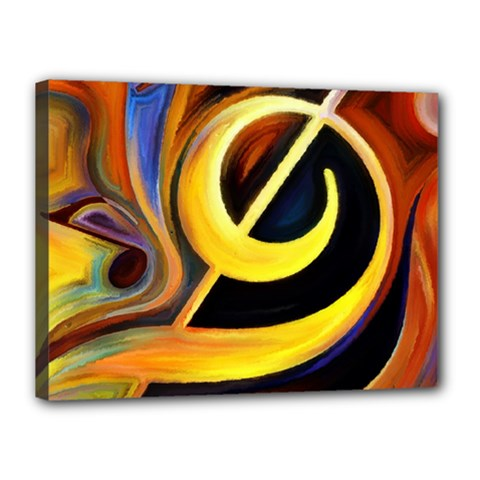 Art Oil Picture Music Nota Canvas 16  X 12