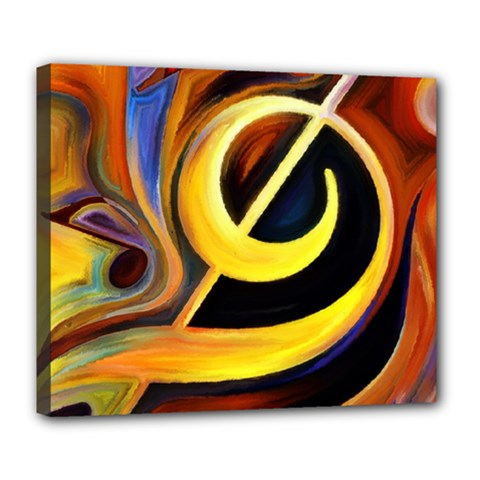 Art Oil Picture Music Nota Deluxe Canvas 24  X 20