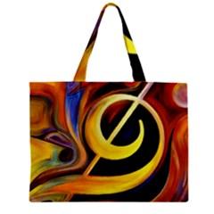 Art Oil Picture Music Nota Zipper Mini Tote Bag