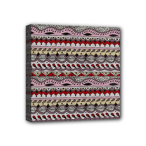 Aztec Pattern Art Mini Canvas 4  X 4