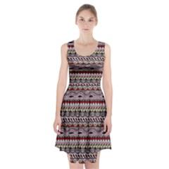 Aztec Pattern Art Racerback Midi Dress