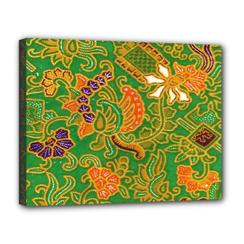 Art Batik The Traditional Fabric Canvas 14  X 11