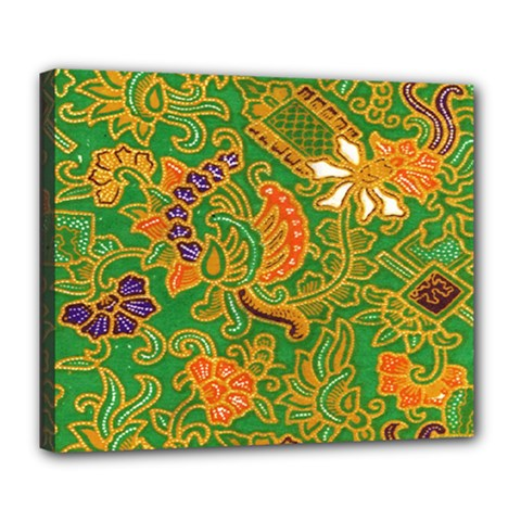 Art Batik The Traditional Fabric Deluxe Canvas 24  X 20
