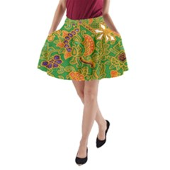 Art Batik The Traditional Fabric A Line Pocket Skirt