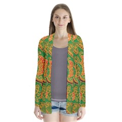 Art Batik The Traditional Fabric Drape Collar Cardigan
