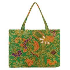 Art Batik The Traditional Fabric Medium Zipper Tote Bag