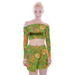 Art Batik The Traditional Fabric Off Shoulder Top With Skirt Set