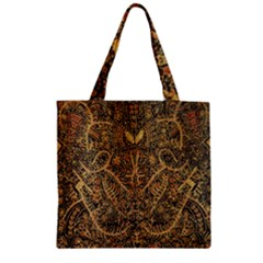 Art Indonesian Batik Zipper Grocery Tote Bag