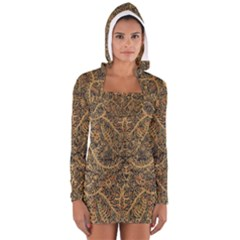 Art Indonesian Batik Long Sleeve Hooded T Shirt