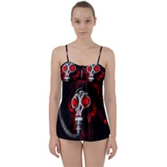Gas Mask Babydoll Tankini Set
