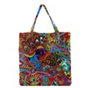 Art Color Dark Detail Monsters Psychedelic Grocery Tote Bag View1