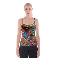Art Color Dark Detail Monsters Psychedelic Spaghetti Strap Top