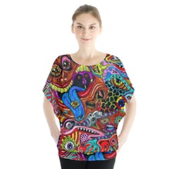 Art Color Dark Detail Monsters Psychedelic Blouse