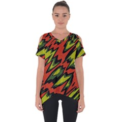 Distorted Shapes                     Cut Out Side Drop Tee