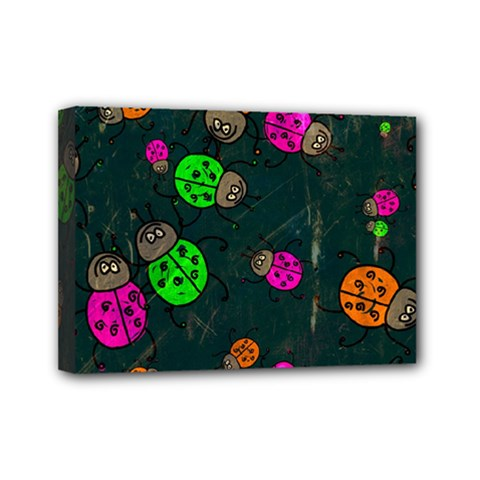 Abstract Bug Insect Pattern Mini Canvas 7  X 5