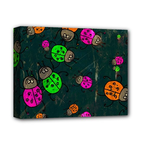 Abstract Bug Insect Pattern Deluxe Canvas 14  X 11