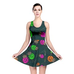 Abstract Bug Insect Pattern Reversible Skater Dress