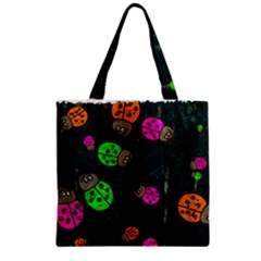 Abstract Bug Insect Pattern Zipper Grocery Tote Bag