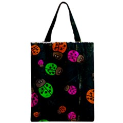 Abstract Bug Insect Pattern Zipper Classic Tote Bag