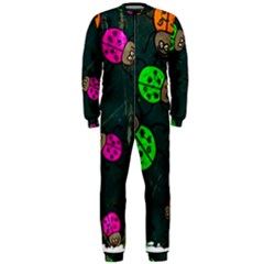 Abstract Bug Insect Pattern Onepiece Jumpsuit (men)