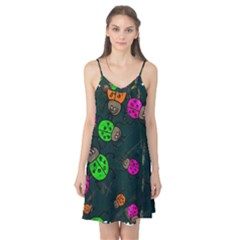 Abstract Bug Insect Pattern Camis Nightgown