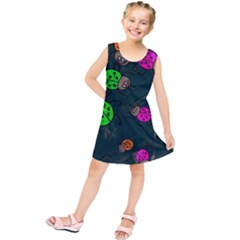 Abstract Bug Insect Pattern Kids  Tunic Dress