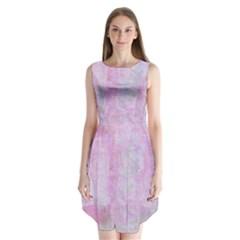Pink Texture                      Sleeveless Chiffon Dress
