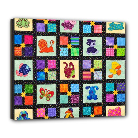 Animal Party Pattern Deluxe Canvas 24  X 20
