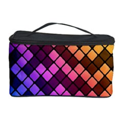 Abstract Small Block Pattern Cosmetic Storage Case