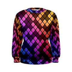 Abstract Small Block Pattern Women s Sweatshirt