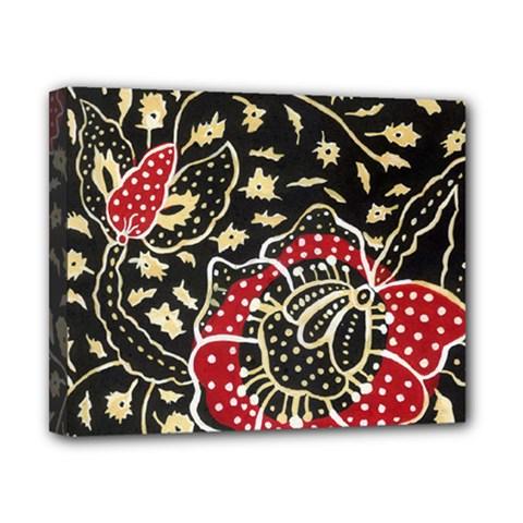 Art Batik Pattern Canvas 10  X 8