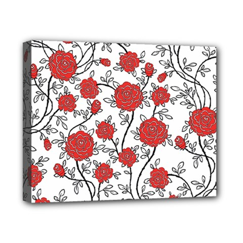 Texture Roses Flowers Canvas 10  X 8
