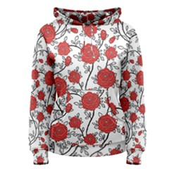 Texture Roses Flowers Women s Pullover Hoodie