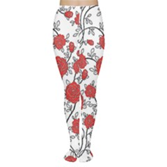 Texture Roses Flowers Women s Tights
