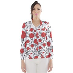 Texture Roses Flowers Wind Breaker (women)