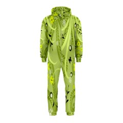 Flowers On A Green Background                            Hooded Jumpsuit (kids)