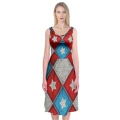 Atar Color Midi Sleeveless Dress